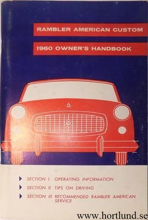 1960 Rambler American Custom Owner's Handbook