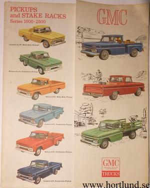 1965 GMC Pickups Series 1000 - 2500 Broschyr