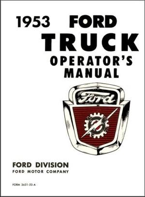 1953 Ford Truck Operator's Manual