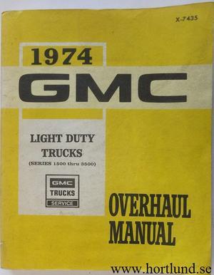 1974 GMC Light Trucks Overhaul Manual