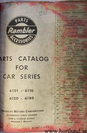 1961 Rambler Parts Catalog