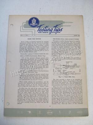 1947 Delco Radio Testing tips for radio servicemen June 1947