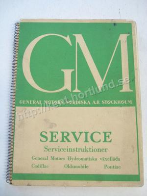 1948-50 GM Serviceinstruktioner General Motors Hydramatiska växellåda Svensk