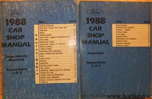 1988 Ford Taurus / Mercury Sable Shop Manual