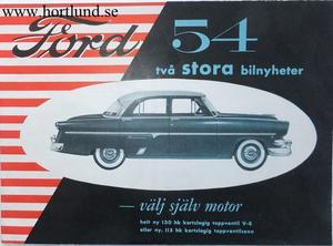 1954 Ford broschyr svensk