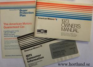 1973 AMC Owner's Manual