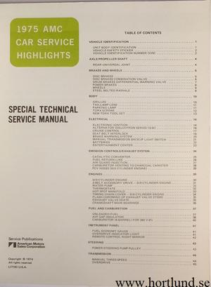 1975 AMC Car Service Highlights