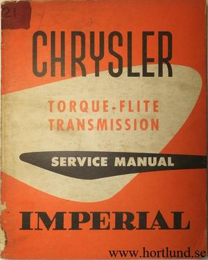 1956 Chrysler och Imperial Torque-Flite Transmission Service Manual