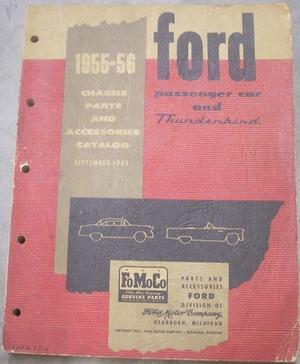 1955-1956 Ford Car Chassis Parts and Accessories Catalog