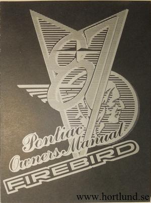 1987 Pontiac Firebird Owners Manual