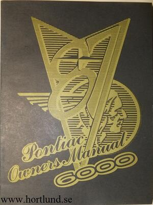 1987 Pontiac 6000 Owners Manual