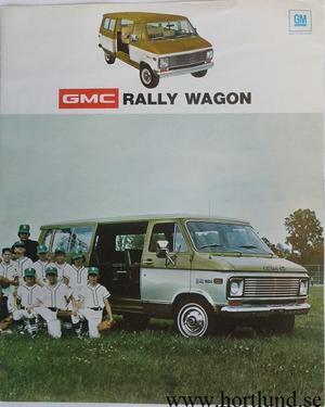 1974 GMC Rally Wagon Broschyr