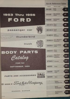 1953-1956 Ford Car and Truck Body Parts and Accessories Catalog