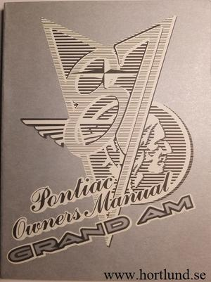1987 Pontiac Grand Am Owners Manual