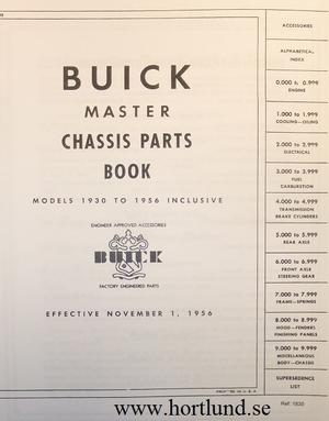 1930-1956 Buick Master Parts Book