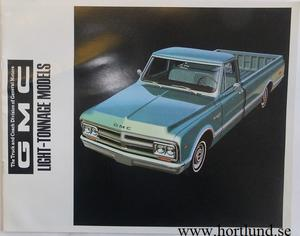 1968 GMC Light-Tonage Models Broschyr