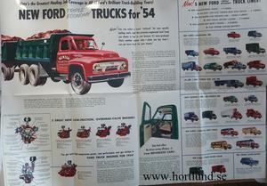 1954 Ford Trucks broschyr