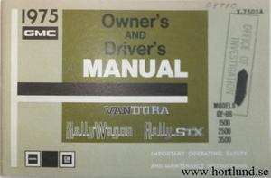 1975 GMC Van Owner's Manual