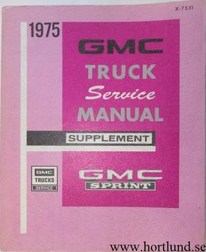 1975 GMC Sprint Service Manual supplement