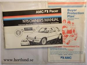 1975 AMC Pacer Owner's Manual
