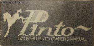 1973 Ford Pinto Owners Manual