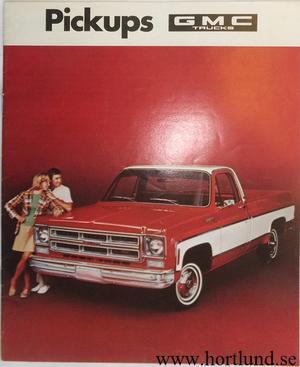 1975 GMC Pickups Broschyr