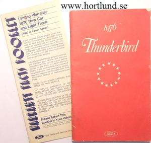 1976 Ford Thunderbird Owners Manual