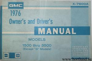 1976 GMC 1500-3500 Truck Owner's Manual