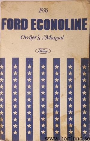 1976 Ford Econoline Van Owners Manual