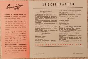 1946 Ford broschyr svensk