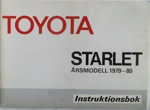1979 1980 Toyota Starlet Instruktionsbok svensk