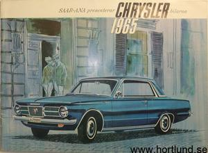 1965 Imperial, Chrysler, Plymouth, Valiant, Dodge och Dart Broschyr svensk
