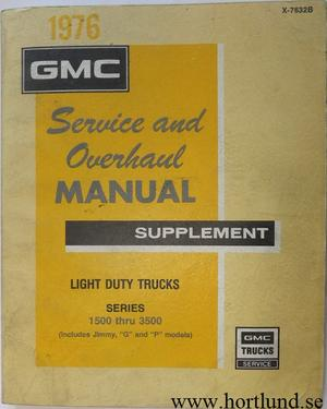 1976 GMC Light Trucks Service and Overhaul Manual
