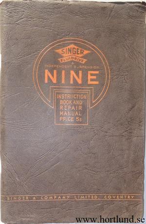 1934 - 1937 Singer Nine Instruction