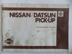 1982 1983 Nissan Datsun Pick-up Instruktionsbok 720-serien