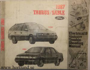 1987 Ford Taurus / Mercury Sable Electrical & Vacuum Trouble-Shooting Manual