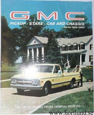 1969 GMC Pickup, Stake, Cab and Chassis Series 1500 - 3500 Broschyr