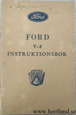1952 Ford V-8 Instruktionsbok svensk