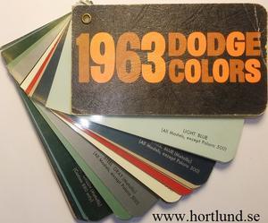1963 Dodge Colors