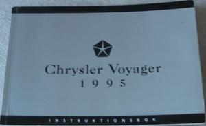 1995 Chrysler Voyager Instruktionsbok
