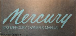 1973 Mercury Full Size Owners Manual