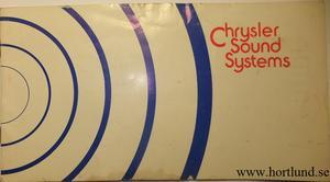 1979 Chrysler Sound Systems