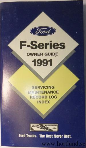 1991 Ford Truck F-100-350 Owner Guide