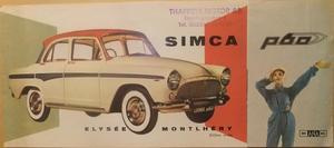 1959 Simca Aronde P60 folder svensk
