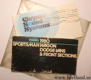 1980 Dodge Van Operating Instructions
