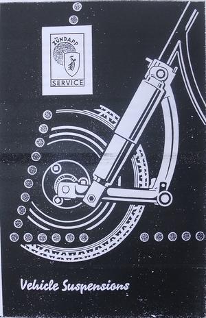 1956 Zündapp fjädring verkstadshandbok