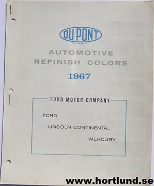 1967 Ford, Mercury och Lincoln lackkarta