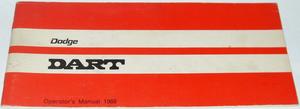 1969 Dodge Dart Operator's Manual