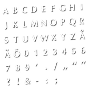 Fontset 35 pcs - fonts 9mm