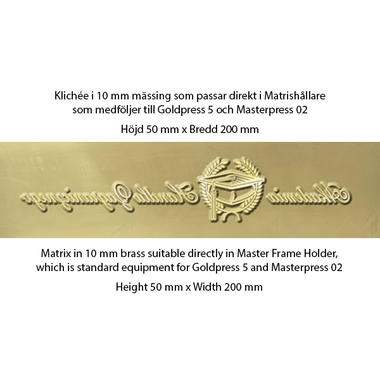 Matrix 10mm brass - Goldpress 5